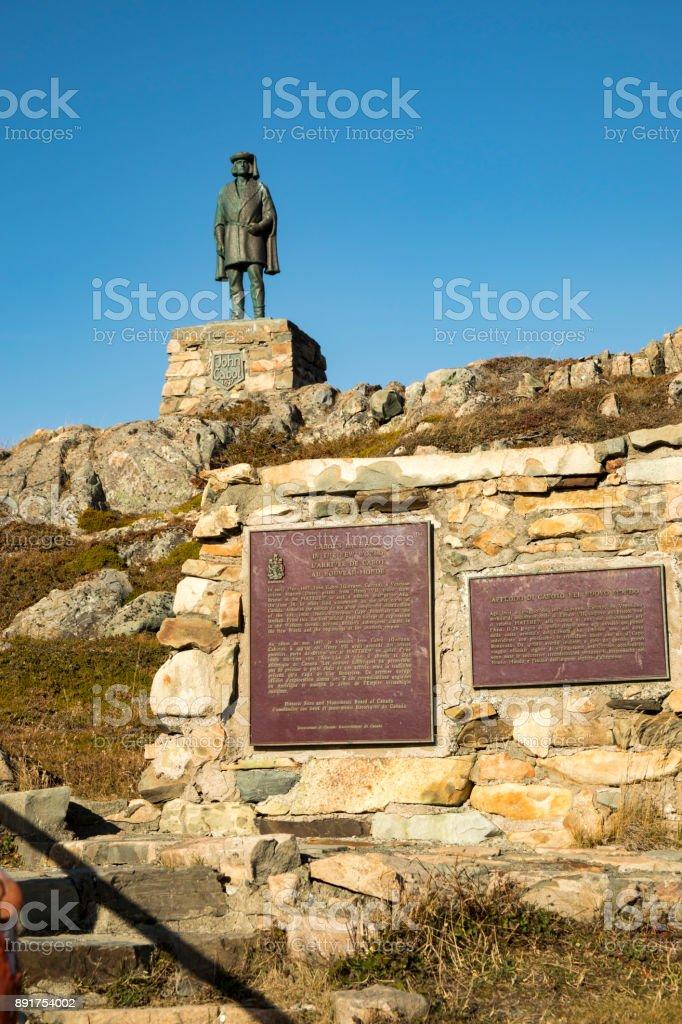 John Cabot memorial at Landfall Municipal Park, Bonavista, Newfoundland, Canada stock photo