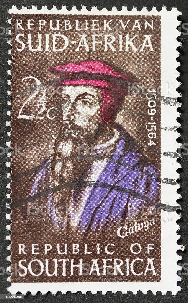 John Calvyn postage stamp stock photo