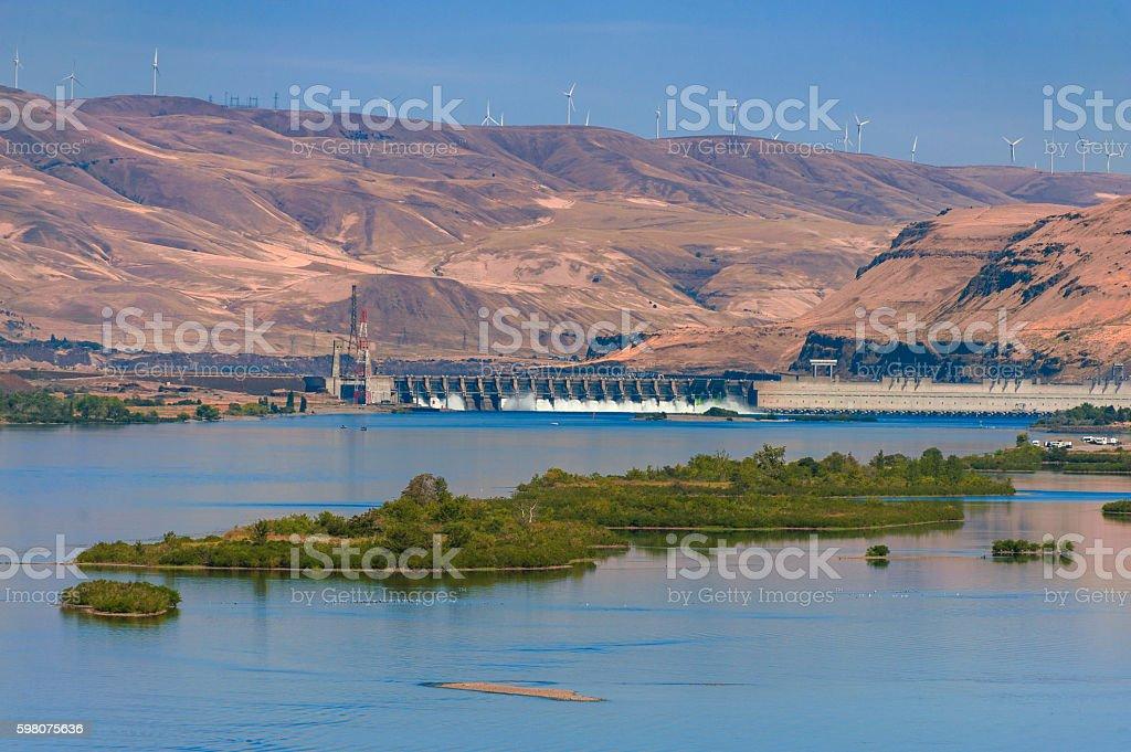 John Day Dam stock photo