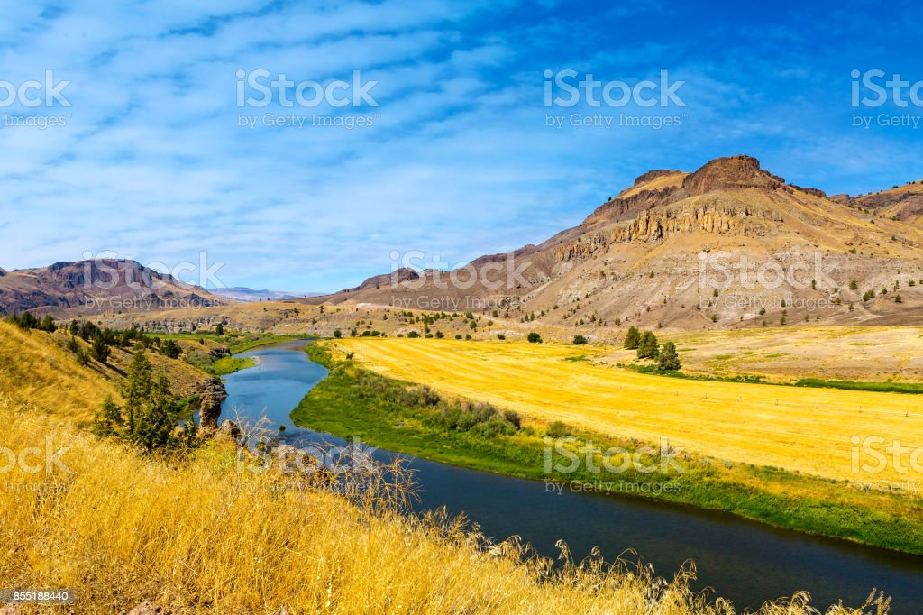 John Day River in Zentral-Oregon-Luftbild – Foto