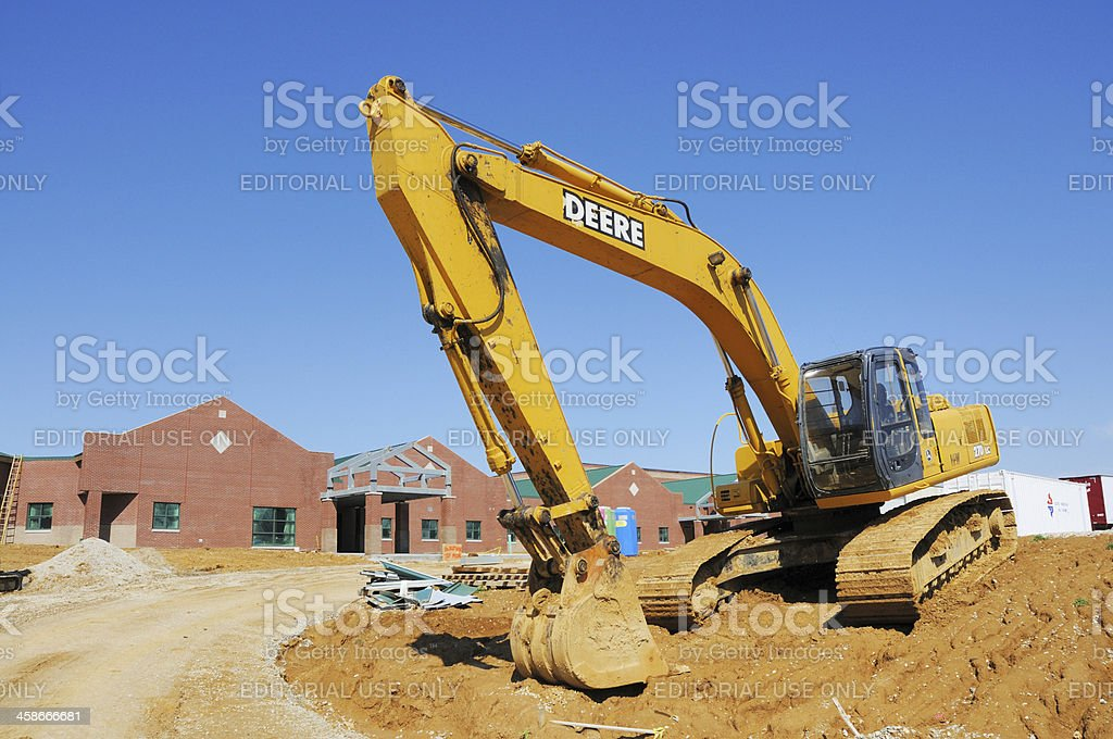 John Deere 270 LC Hydraulic Excavator Heavy Equipment Construction Site stock photo