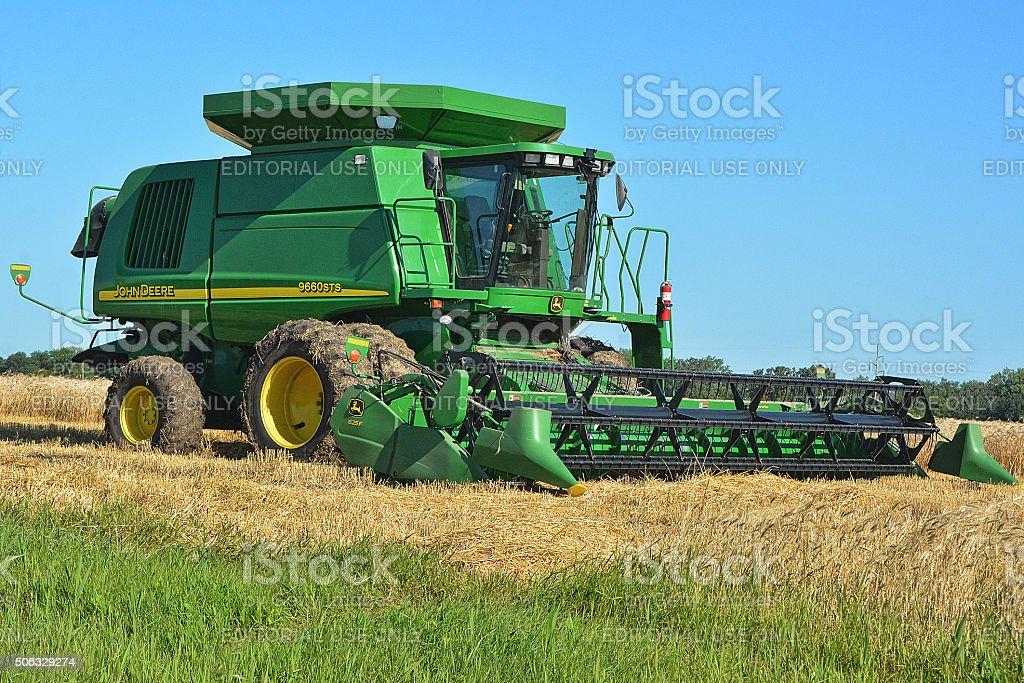 John Deere Combine stock photo
