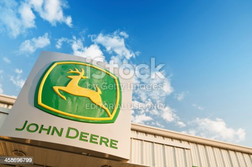 Halifax, Nova Scotia, Canada - July 5, 2011: John Deere retail store in Bayers Lake Industrial Park.  Founded in 1837, Deere & Company employs approximately 50,000 people in 27 countries worldwide.