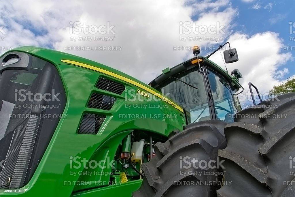 John Deere Tractor Closeup stock photo