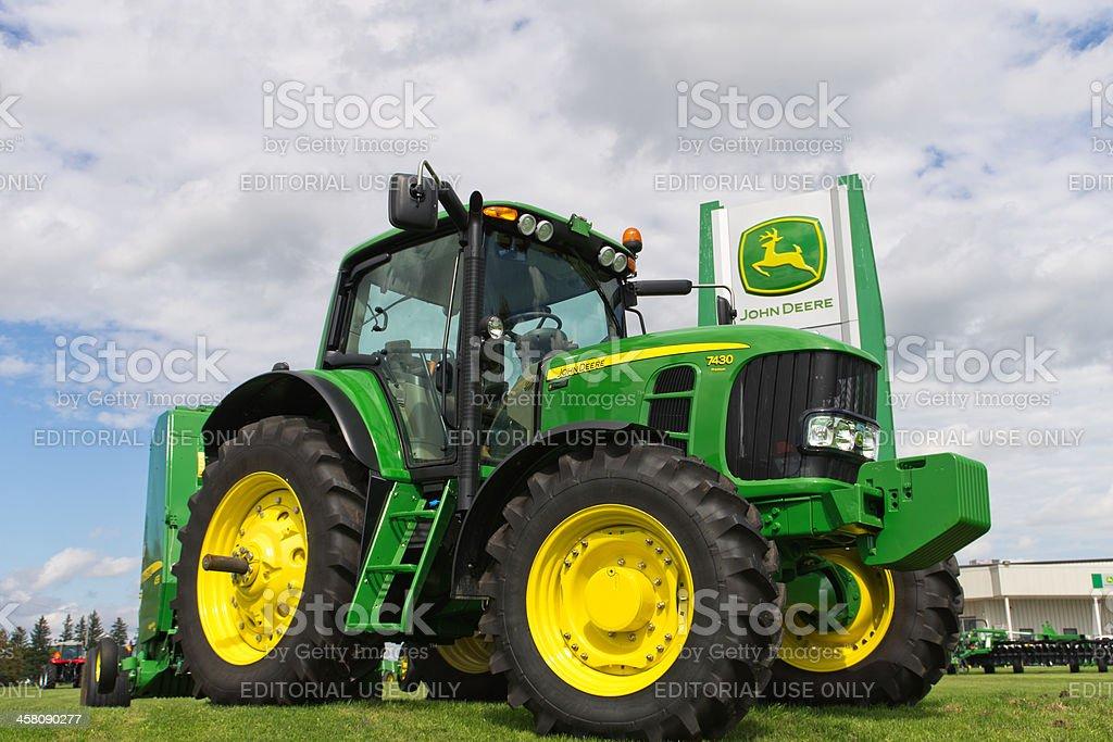 John Deere Tractor on Sales Lot stock photo