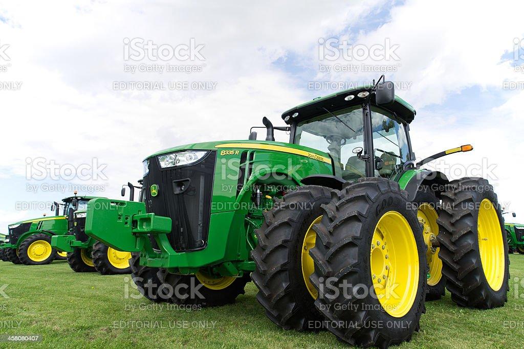 John Deere Tractors stock photo