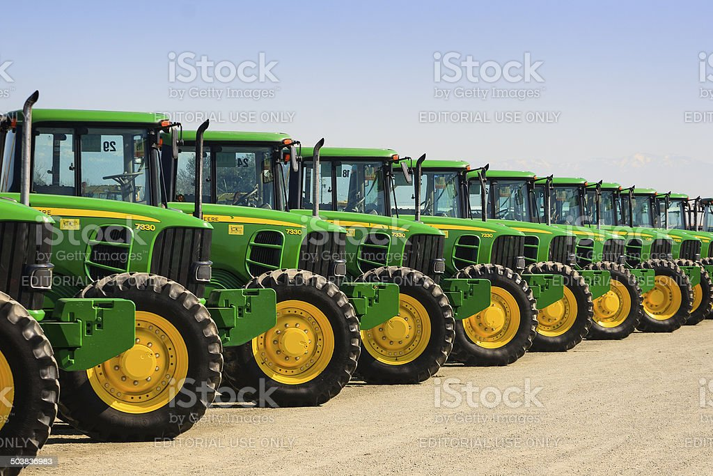 John Deere Tractors - Lizenzfrei Agrarbetrieb Stock-Foto