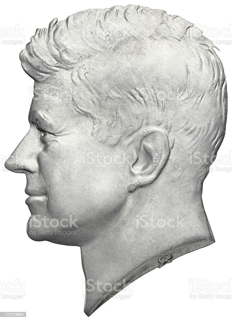 John F. Kennedy Portrait royalty-free stock photo