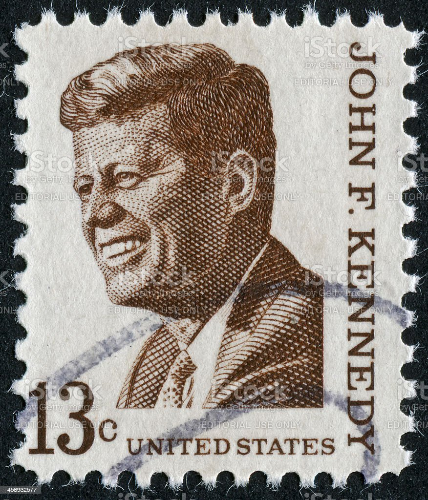 John F. Kennedy Stamp stock photo