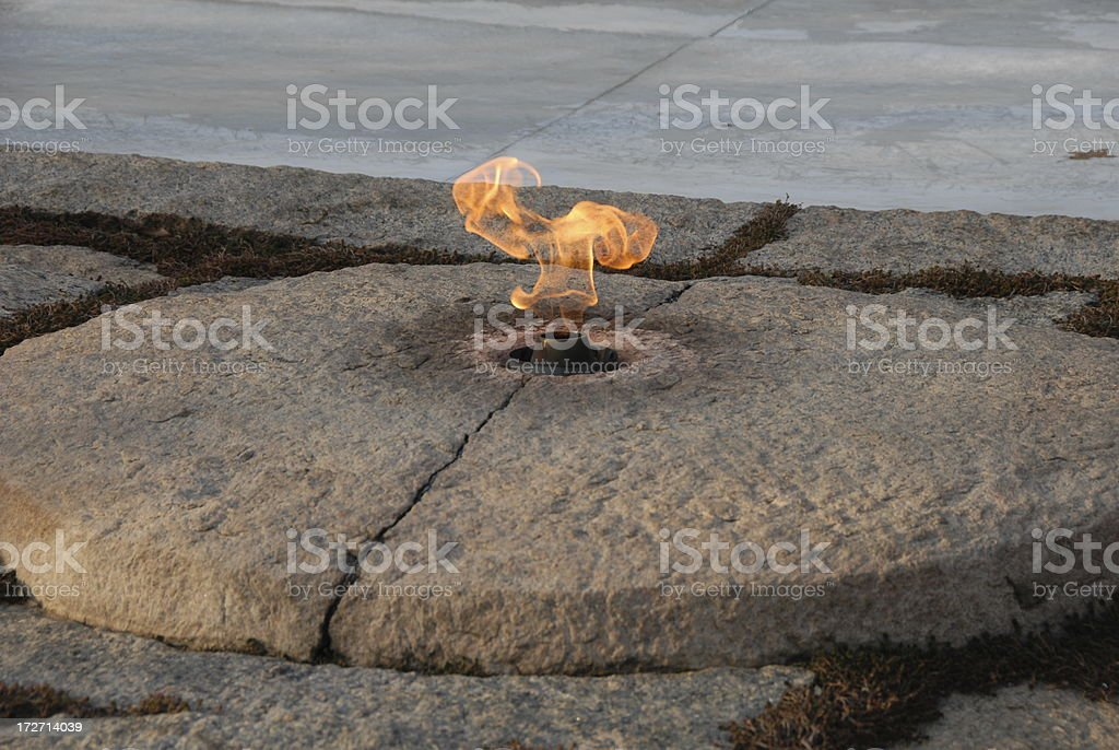 John F. Kennedy's Eternal Flame royalty-free stock photo