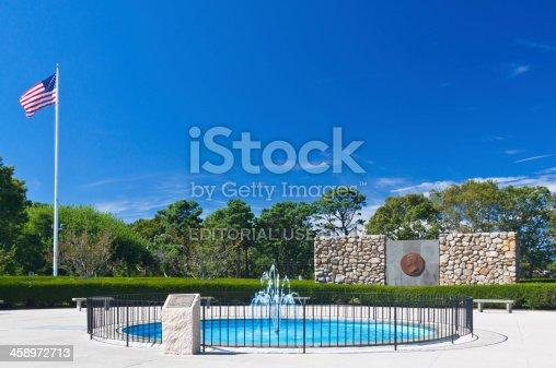 istock John Fitzgerald Kennedy Memorial, Hyannis, Cape Cod, Massachusetts, Blue sky. 458972713