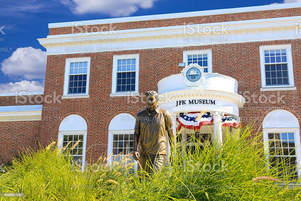John Fitzgerald Kennedy (JFK) Museum, Hyannis, Cape Cod, Massachusetts, USA. stock photo