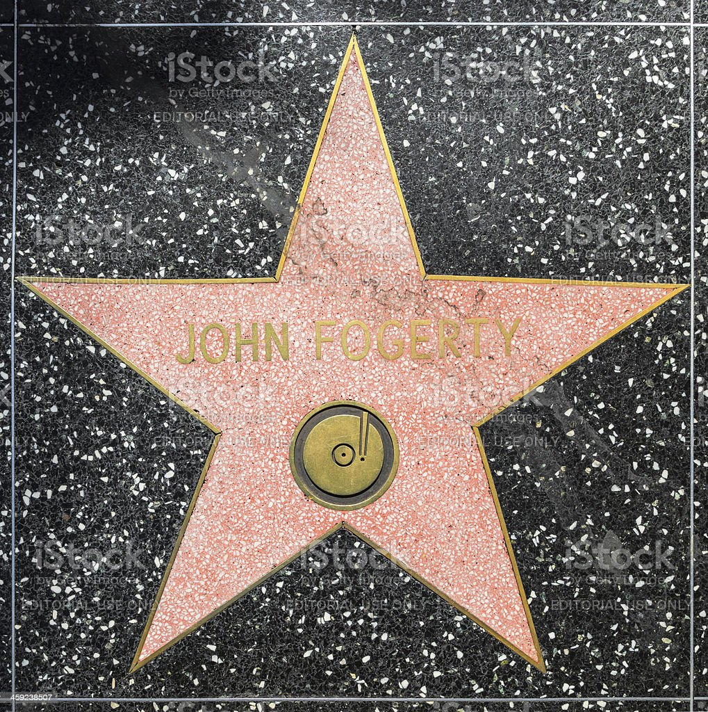 John Fogertys star on Hollywood Walk of Fame royalty-free stock photo