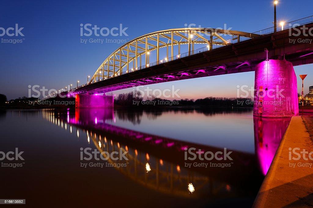 John Frost Bridge over Lower Rhine at Arnhem the Netherlands foto