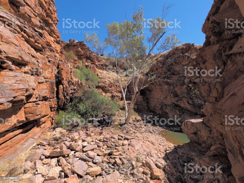John Hayes rockhole near Trephina Gorge stock photo