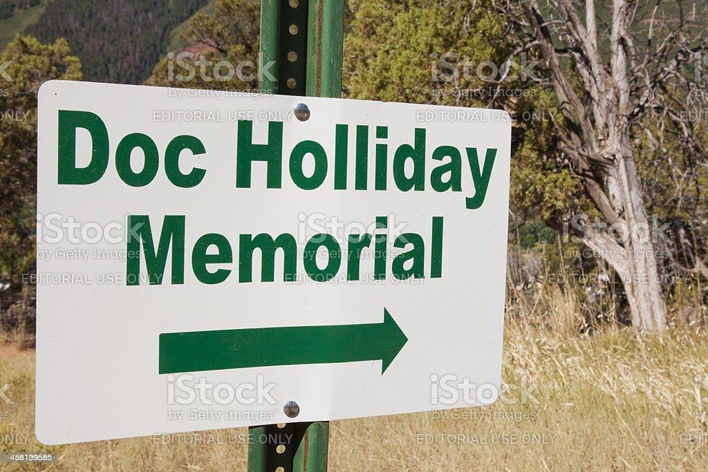 John Henry 'Doc' Holliday's Grave stock photo