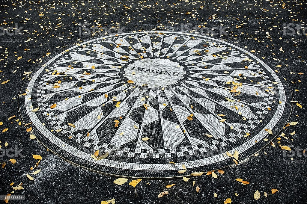 John Lennon Imagine Mosaic - foto de stock