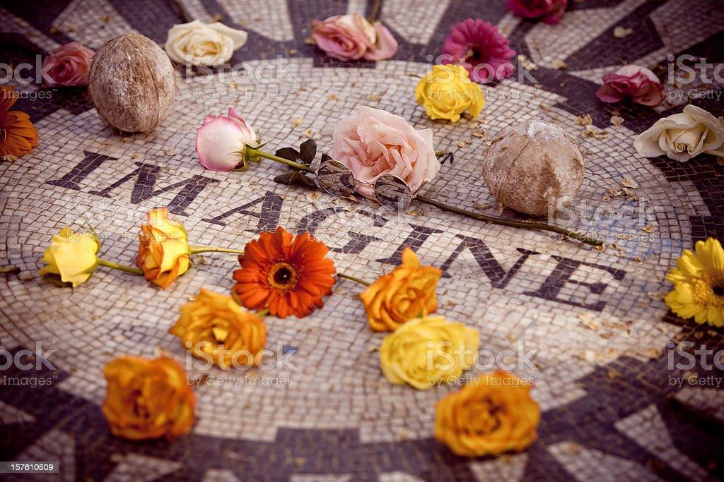 John Lennon memorial royalty-free stock photo