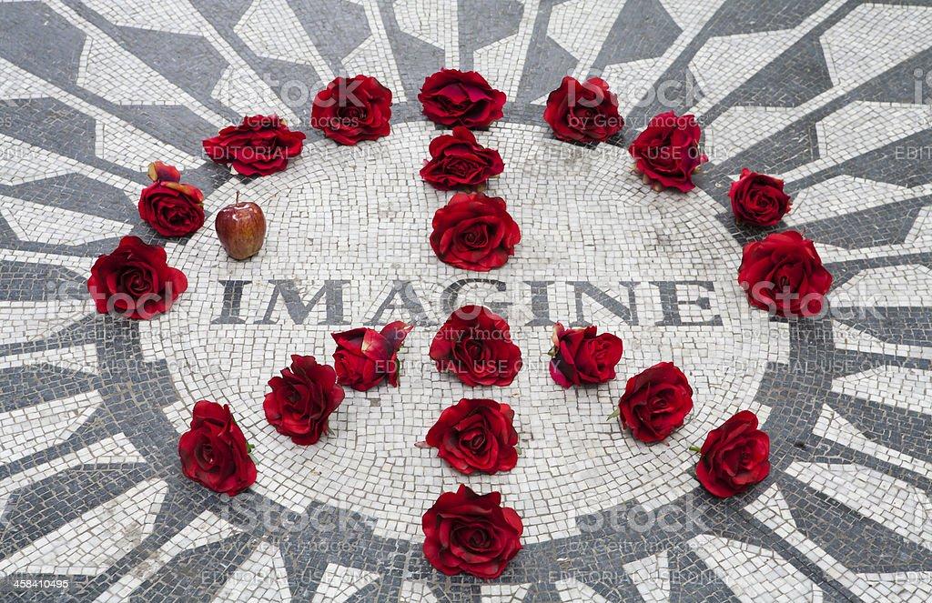John Lennon memorial stock photo