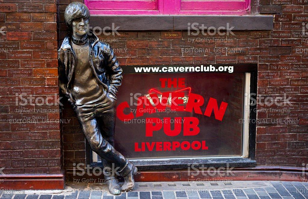 John Lennon Statue in Liverpool stock photo