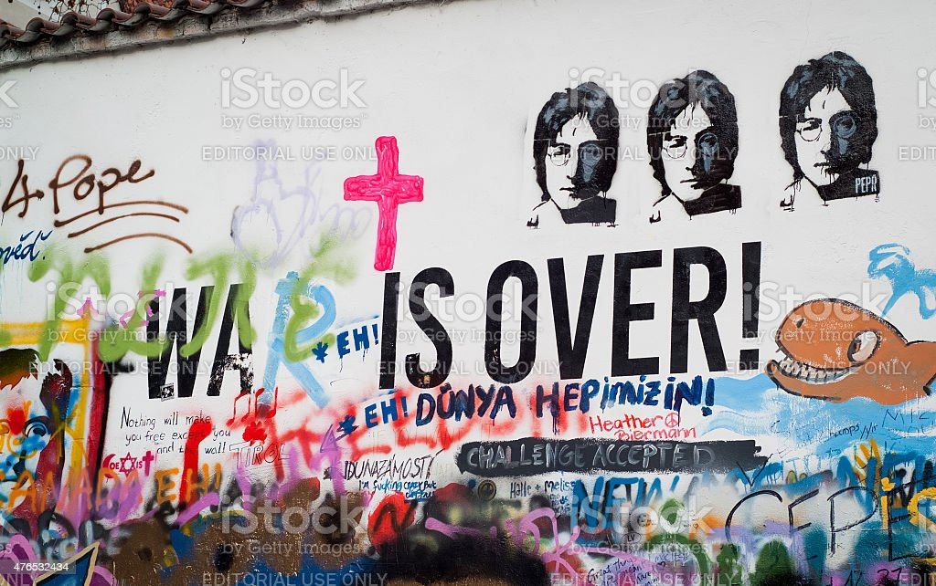 John Lennon Wall stock photo