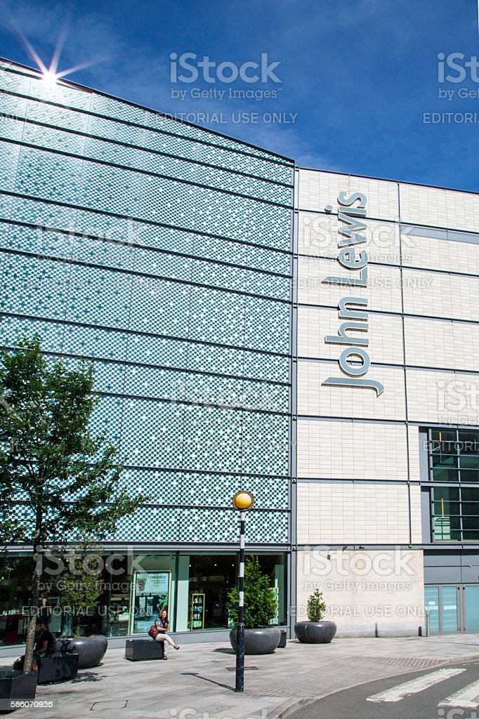 John Lewis Department Store - Cardiff stock photo