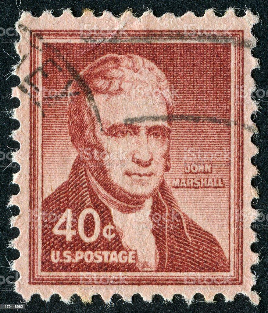 John Marshall Stamp stock photo