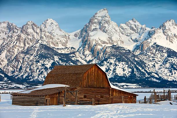 John Moulton Barn (Grand Teton NP) stock photo
