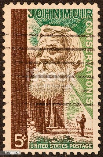 US postage stamp honoring John Muir.