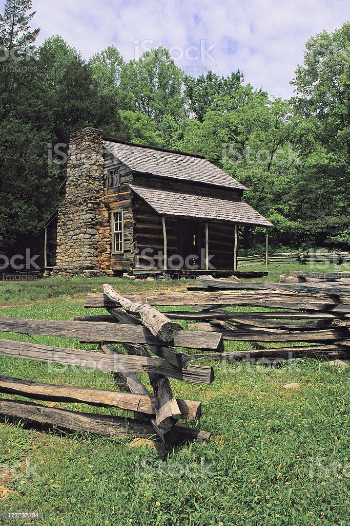 John Oliver's Cabin - Smoky Mountains royalty-free stock photo