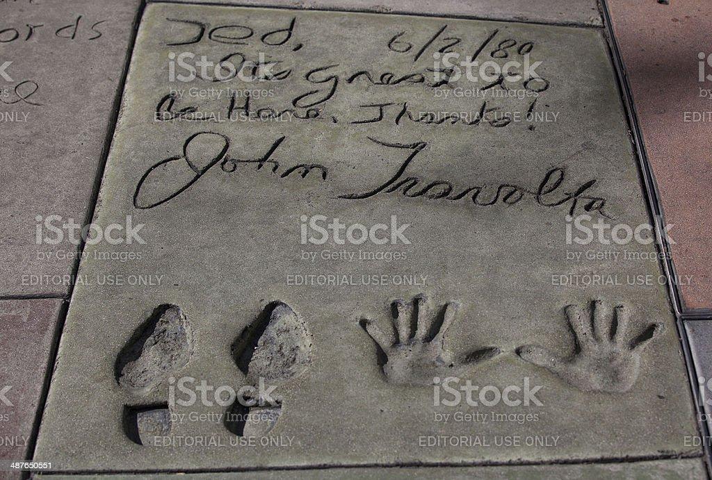 John Travolta's autograph stock photo