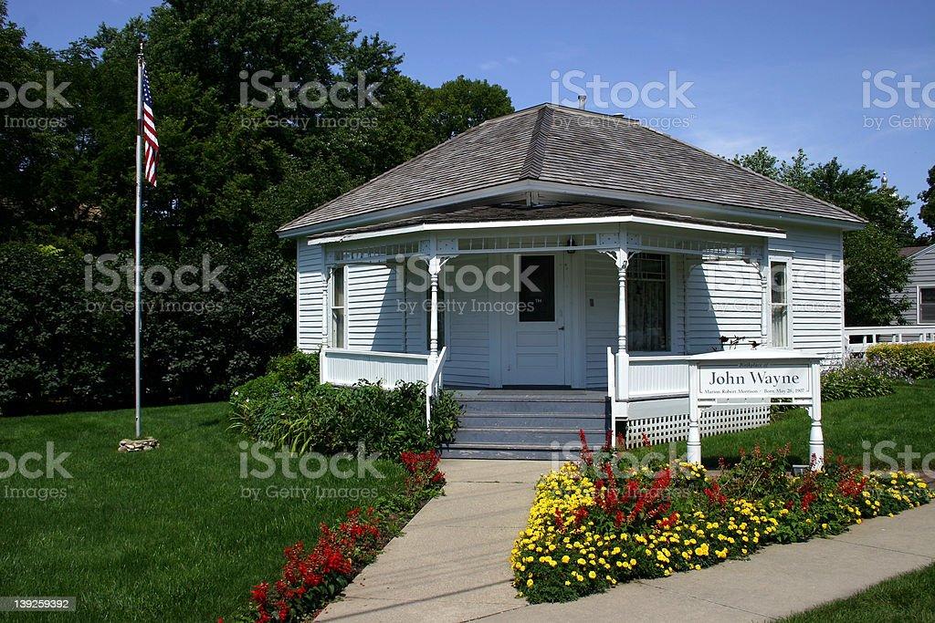 John Wayne's birthplace royalty-free stock photo