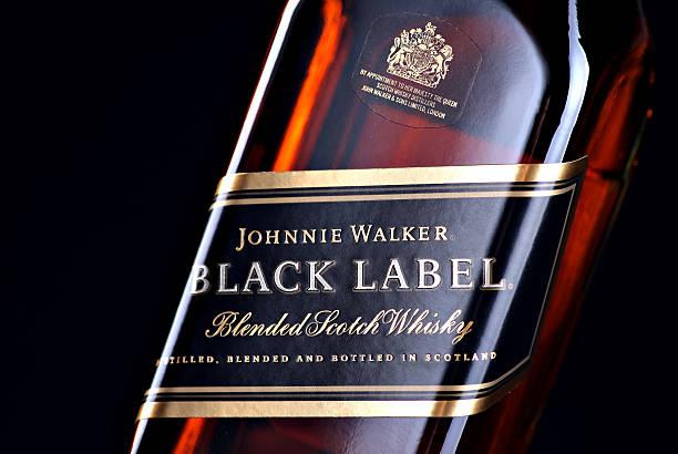 Johnnie Walker black label whiskey stock photo
