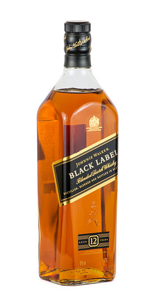 Royalty Free Bottle Of Johnnie Walker Scotch Whisky Isolated On