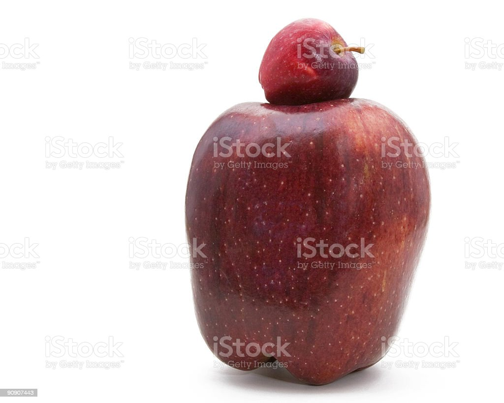 Johnny Appleseed and Tiny Tim stock photo