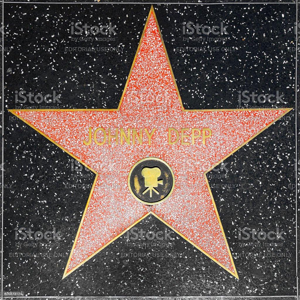 Johnny Depps estrela na Hollywood Passeio da Fama de Hollywood foto de stock royalty-free