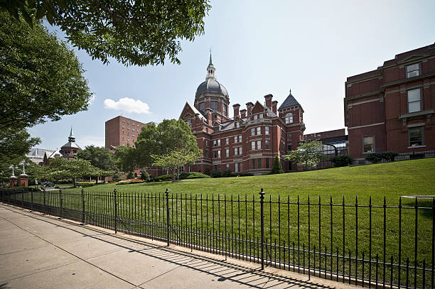 Johns Hopkins Hospital in Baltimore stock photo