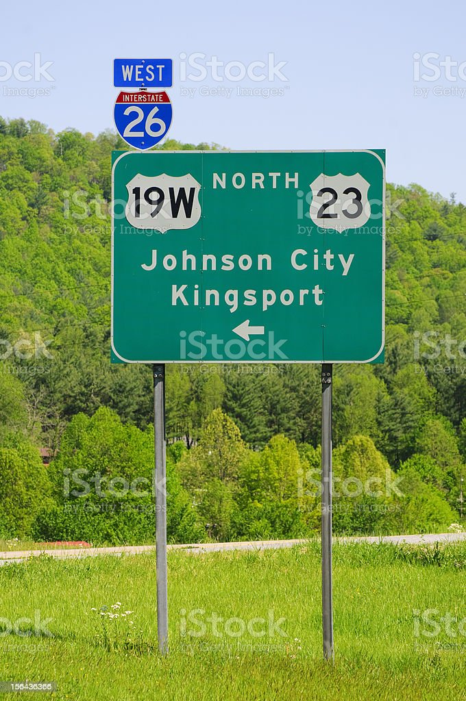 Johnson City and Kingsport, Tennessee royalty-free stock photo