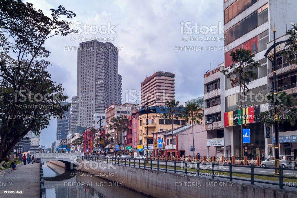 Johor Bahru city centre stock photo