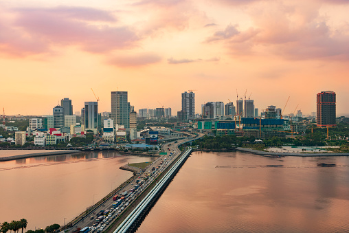 Johor Bahru Is One Of The Biggest City In South Malaysia Nearest To Singapore Stock Photo - Download Image Now