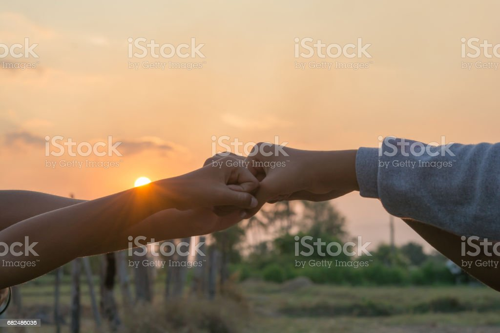 Join hands Sporting local children on playground royalty-free stock photo