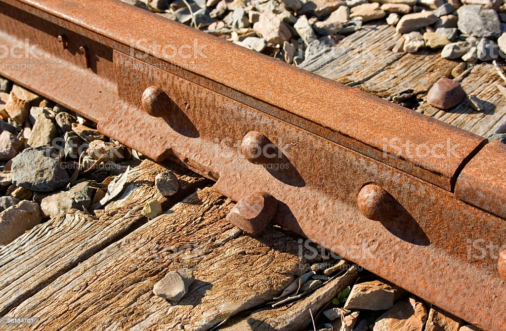 Join in the railway tracks royalty-free stock photo