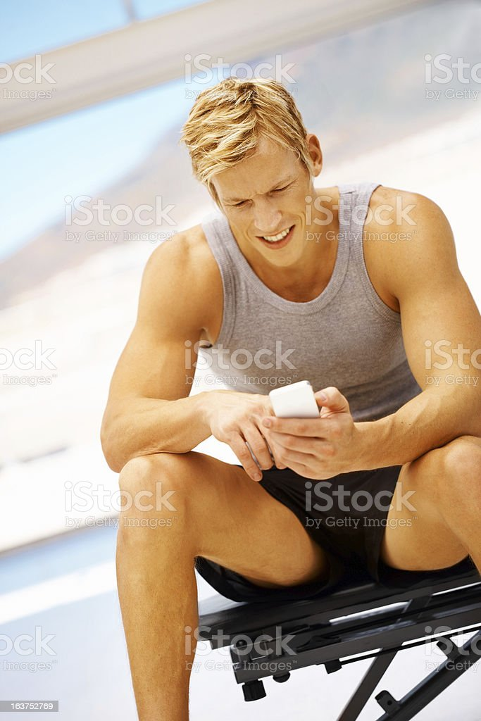 Join me at the gym! royalty-free stock photo