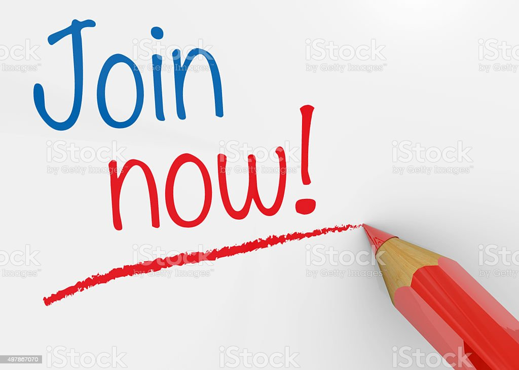 Join Now - 3D stock photo