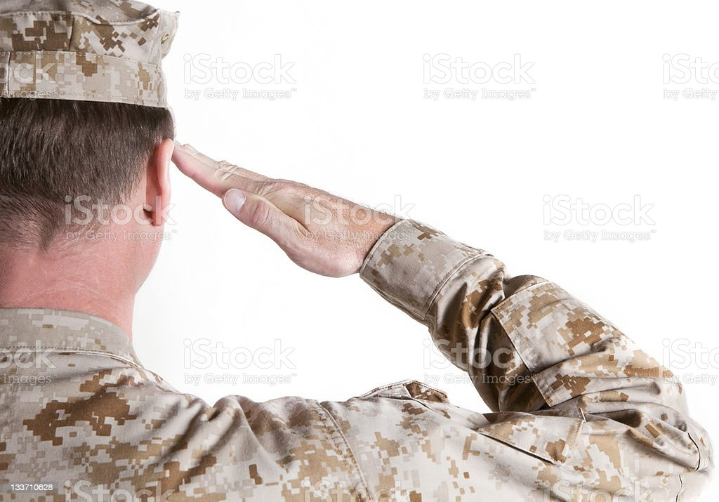 Join our Nation's front lines and learn the soldier's salute royalty-free stock photo