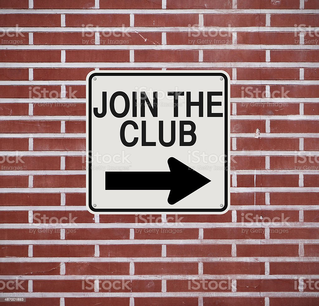 Join the Club royalty-free stock photo