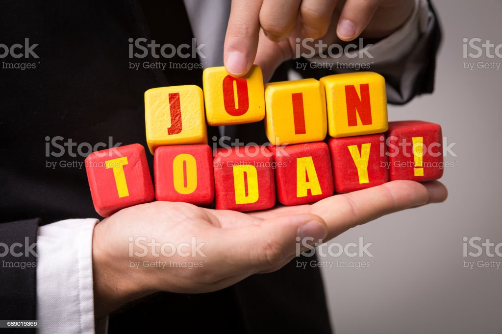 Join Today! stock photo