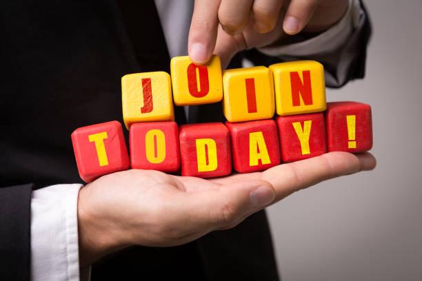 join today! - einladungskarten kostenlos stock-fotos und bilder