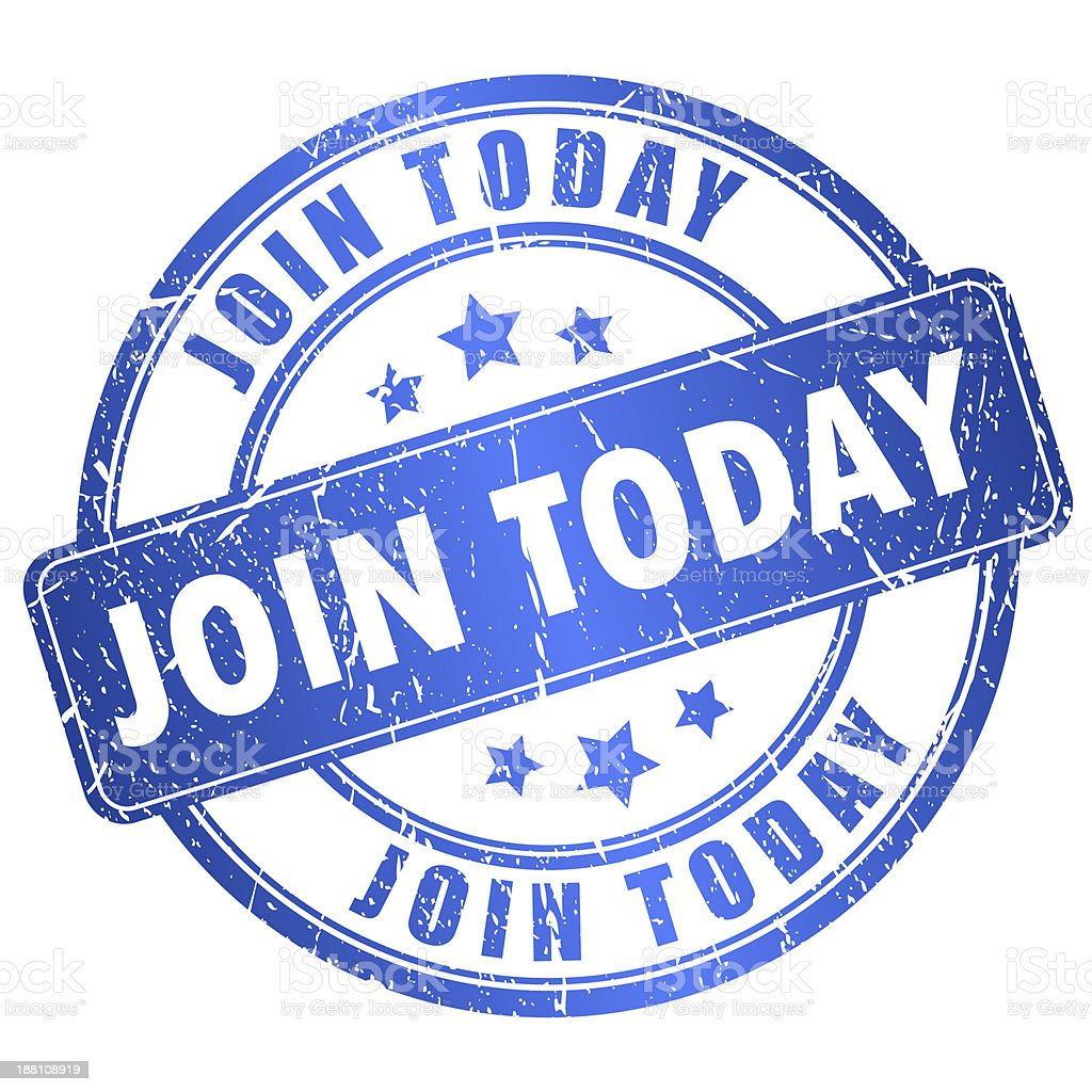Join today stamp stock photo