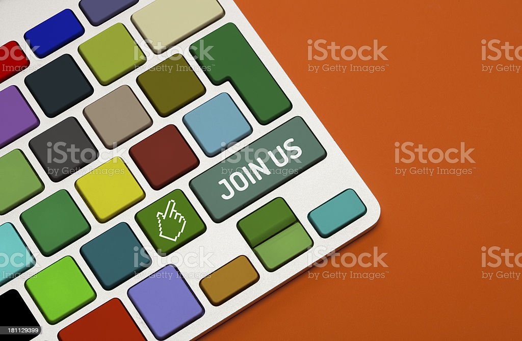 Join Us Concept on Keyboard royalty-free stock photo